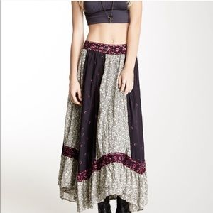 Free People Heirloom Sushi Voile Maxi Skirt Sz. S